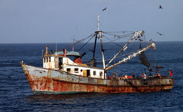 Commercial Fishing Vessel in Sonora, Mexico.