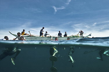 These guys are some of the fishers on one of the village of Tingloy town province of Batangas, Philippines