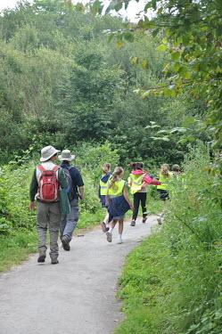 Children and volunteers at BioBlitz event near Bristol, UK Children,nature,BioBlitz,survey