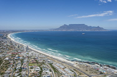 Blouberg Strand and Table Mountain Coastline,Horizontal,Outdoors,South Africa,Table Mountain,Western Cape,aerial,africa,african,benguela current,big bay,bloubergstrand,color,colour,day,icon,iconic mountain,image,landscape,landscape for
