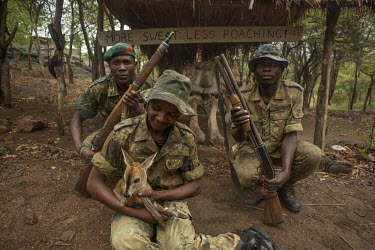 Antipoaching team at Thuma reserve Malawi Africa,antipoaching,ranger,poaching,poacher,rangers,conservation threats,animal trade,conservation issue,weapons crime,men,wildlife crime,wildlife trade,guns