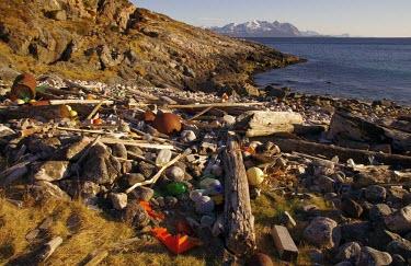 Marine litter in cove on Ringvassy nature,coast,debris,beach,litter,plastics,coastline,environmental issues,plastic waste,marine litter,plastic pollution,strandline,plastic