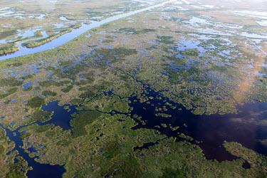 Coastal marshes landscape,river,Gulf of Mexico,gulf,marsh,coastal,wetland,aerial,habitat