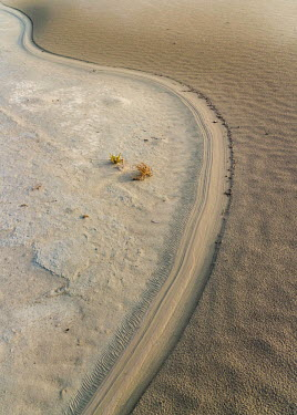 Bank of dried-up Urmia Lake Sand,arid,desert,brush,dry,desertification,drying,desiccation,drought,no water