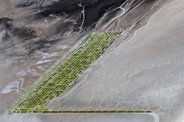 Salt farms, Urmia Lake, West Azerbaijan, Iran Lake,lakes,habitat,landscapes,landscape,humans,farm,sequestration,ecosystem service,salt,salt farm,manmade,modified,water,sandbank