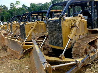 Logging activities depend on using heavy vehicles in the concession of PT. Sumalindo Lestari Jaya 2 forest,mining,vehicle,coal,climate change,global warming,heavy machine,rainforests,machinery,logging