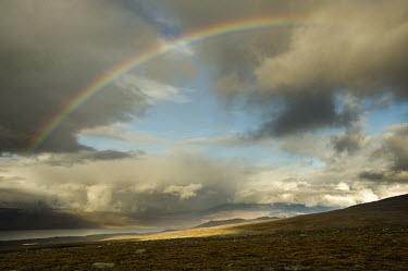 Rainbow over Abisko Abisko,Autumn,fall,Fj�ll,H�st,landscape,golden,still,calm,rainbow,sky,clouds,skyscape,light,landscape photography,Abisko_Sweden