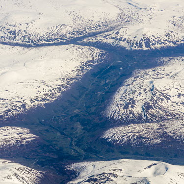 Tromso from the air aerial,Norway,valley,Tromso,Troms,landscape,snow,mountains,river,from above,from the air,ice,icy,snowy,valleys,TromsNorway,Airial,Valley