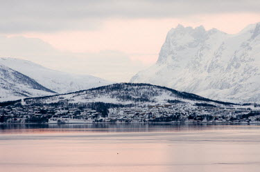Tromso landscape Troms,winter,Tromso,Norway,Troms,landscape,mountains,snow,clouds,water,reflections,town,houses,landscape photography,mountain,TromsNorway,Winter