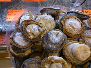 Abalone for sale in medicine shop China,Chinese medicine,Traditional Chinese Medicine,medicine,medicine shop,illegal,illicit,illegal wildlife trade,wildlife trade,poaching,poached,dead,endangered species,threats,conservation threat,un