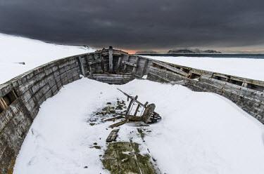 Inside abandoned,Arctic,boat,Calypsobyen,landscape,Svalbard,winter,snow,dark skies,wood,wooden,Abandoned,Boat,Landscape,Winter