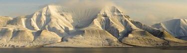 Light & Land Svalbard,panorama,panoramic,mountain,mountains,snow,coast,landscape