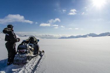 Skidoo Svalbard,Arctic,people,skidoo,snow,landscape,blue sky,sun,sunny,mountains
