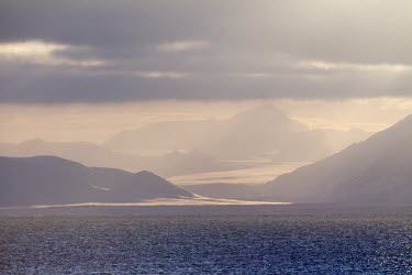 Light & Water Svalbard,seascape,pink,purple,atmospheric,water,mountains,landscape,clouds