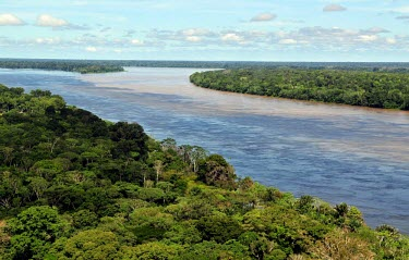 Aerial view of the Amazon rainforest and river, near Manaus Brazil,latin america,horizontal,forest,river,landscape,amazon,spanish,forests,climate change,global warming,rainforests,rainforest,aerial,water,brazil