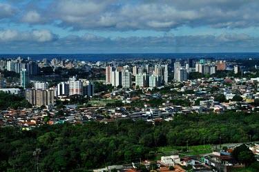 Aerial view of the Amazon rainforest and river, near Manaus city,Brazil,landscape,urban areas,latin america,horizontal,spanish,climate change,global warming,urban,capital,Manaus,Amazonas,urbanisation,amazon,brazil