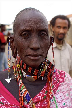 A man from Tanzania africa,portrait,people,man,tanzania,forests,verticals,jewellery,beads,ear rings,ears,shallow focus,face,faces,head