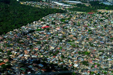 Aerial view of Manaus houses,brazil,horizontal,forest,amazon,rainforest,view,forestry,center,aerial,spanish,international,research,redd,manaus,urban areas,encroachment,urbanisation,urban