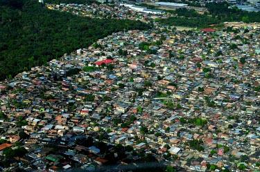 Aerial view of Manaus houses,brazil,horizontal,forest,amazon,rainforest,view,forestry,center,aerial,spanish,international,research,redd,manaus,urban areas,encroachment,urbanisation,urban
