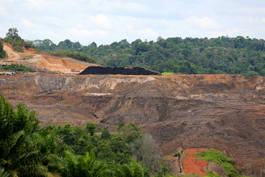 Activity in local coal mining horizontal,mine,mining,coal,climate change,natural gas,east kalimantan,oil palms,habitat,destruction,soil,earth,degraded,red,hill,mound
