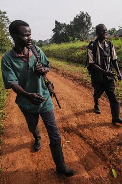 Anti-poaching team, Uganda Habitat protection,wildlife rangers,wildlife ranger,rangers,park rangers,guards,guard,Ranger,park ranger,Land management,humans,human,People,homo sapiens,persons,person,homo sapien