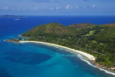 Aerial view of Praslin island - Seychelles shoreline,Shore,sea shore,shoreland,sea side,Sea,seas,tropics,Tropical,Rocky shore,beaches,Beach,saltwater,Marine,saline,coast,Coastal,coast line,coastline,Aquatic,water,water body,environment,ecosyst