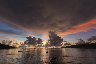 Sunset sky on Mahe - Seychelles Evening,nightfall,sunsets,dusk,sun set,Sunset,Aquatic,water,water body,beaches,Beach,shoreline,Shore,sea shore,shoreland,sea side,environment,ecosystem,Habitat,coast,Coastal,coast line,coastline,Morni