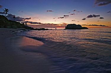 Sunset on a beach - Cousine Island, Seychelles beach,beaches