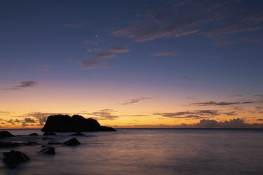 Sunset over Cousine Island - Seychelles beach,beaches
