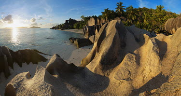 Granite boulders on the coast of La Digue - Seychelles beach,beaches