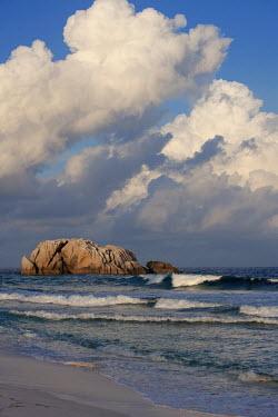 Waves hitting the shore - Seychelles