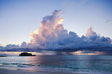 Storm clouds at sunset - Seychelles