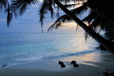 Sunrise on a secluded beach - Mahe, Seychelles