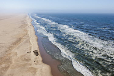 Aerial of Cape fur seal colony - Namibia, Africa beaches,Beach,waves,surf,Wave,coast,Coastal,coast line,coastline,Colonisation,Colony,Colonial,gathering,Group,many,collection,assemble,numerous,grouping,collective,gather,assembly,gamming,Ocean,oceans