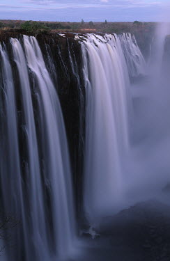 Victoria Falls - Zimbabwe Waterfall,Spectacular,Light,Mist,Spray,Landscape,Formation,Geological,Water,River,Cliff