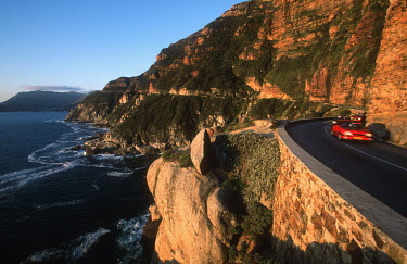 Coastal road - Chapman's Peak drive - Cape Town, South Africa Coast,Road,Winding,Car,Rocky,Cliff,Mountain,Hills