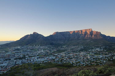 Cape Town city centre at sunrise with a view of Table Mountain - Cape Town, South Africa Landscape,Morning,Sunrise,Mountains,Waking up,Sky,Table Mountain