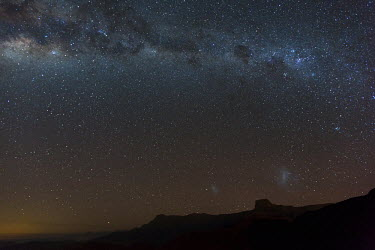 Milky Way over the Drakensburg Mountains - South Africa. Galaxies,Milkyway,Galaxy,Night,Outer Space,Stars,The Universe,Sky